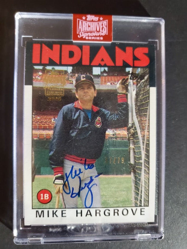 2019 Topps Archives Signature Mike Hargrove - 1986 Autograph