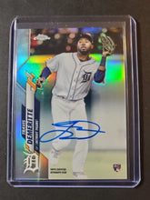 Load image into Gallery viewer, 2020 Topps Chrome Travis Demeritte Autographed Rookie Refractor /499