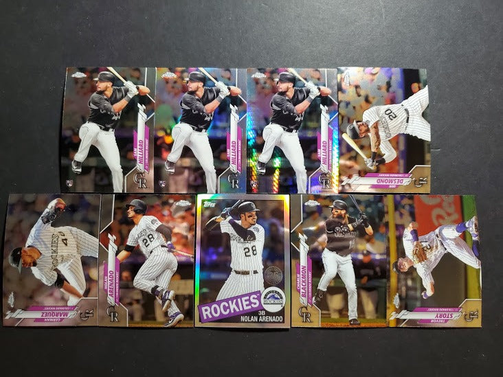 2020 Topps Chrome Colorado Rockies Team Set