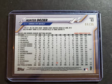 Load image into Gallery viewer, 2020 Topps Chrome Hunter Dozier Orange Wave Refractor SP /25