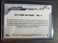 Load image into Gallery viewer, 2020 Topps Update Aaron Judge Rainbow Foil Parallel Home Run Derby