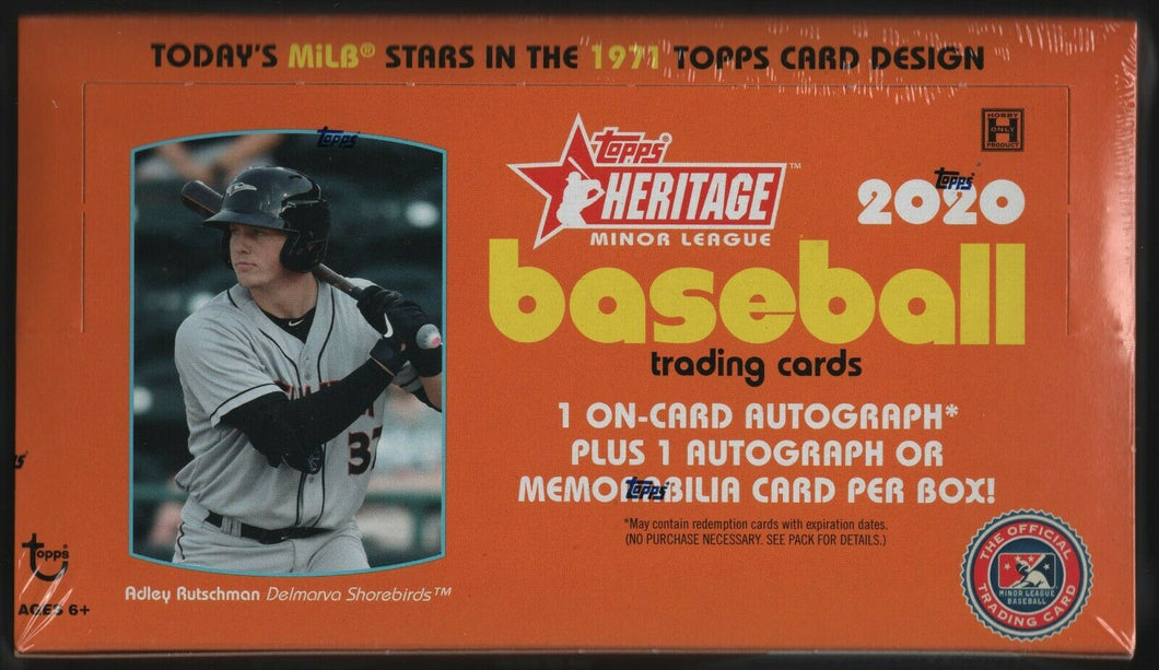 2020 Hobby Box Topps Heritage Minors Factory Sealed