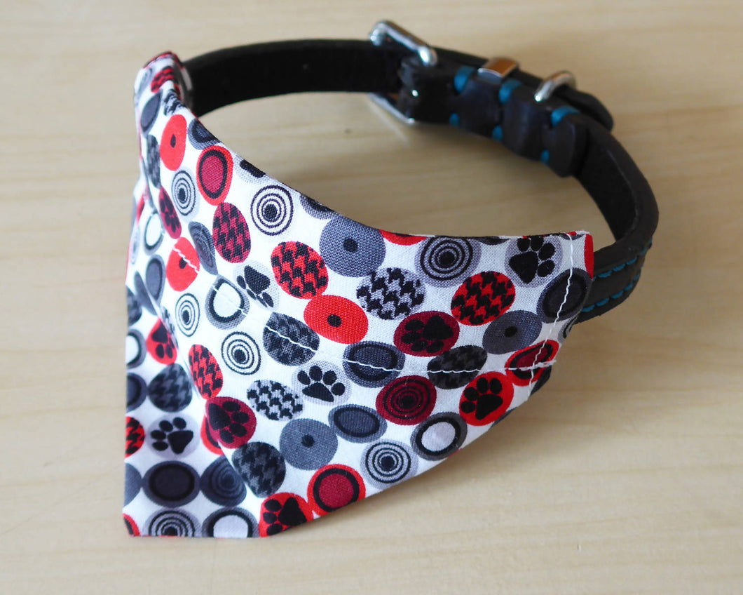 Paw Dot Print Dog Bandana