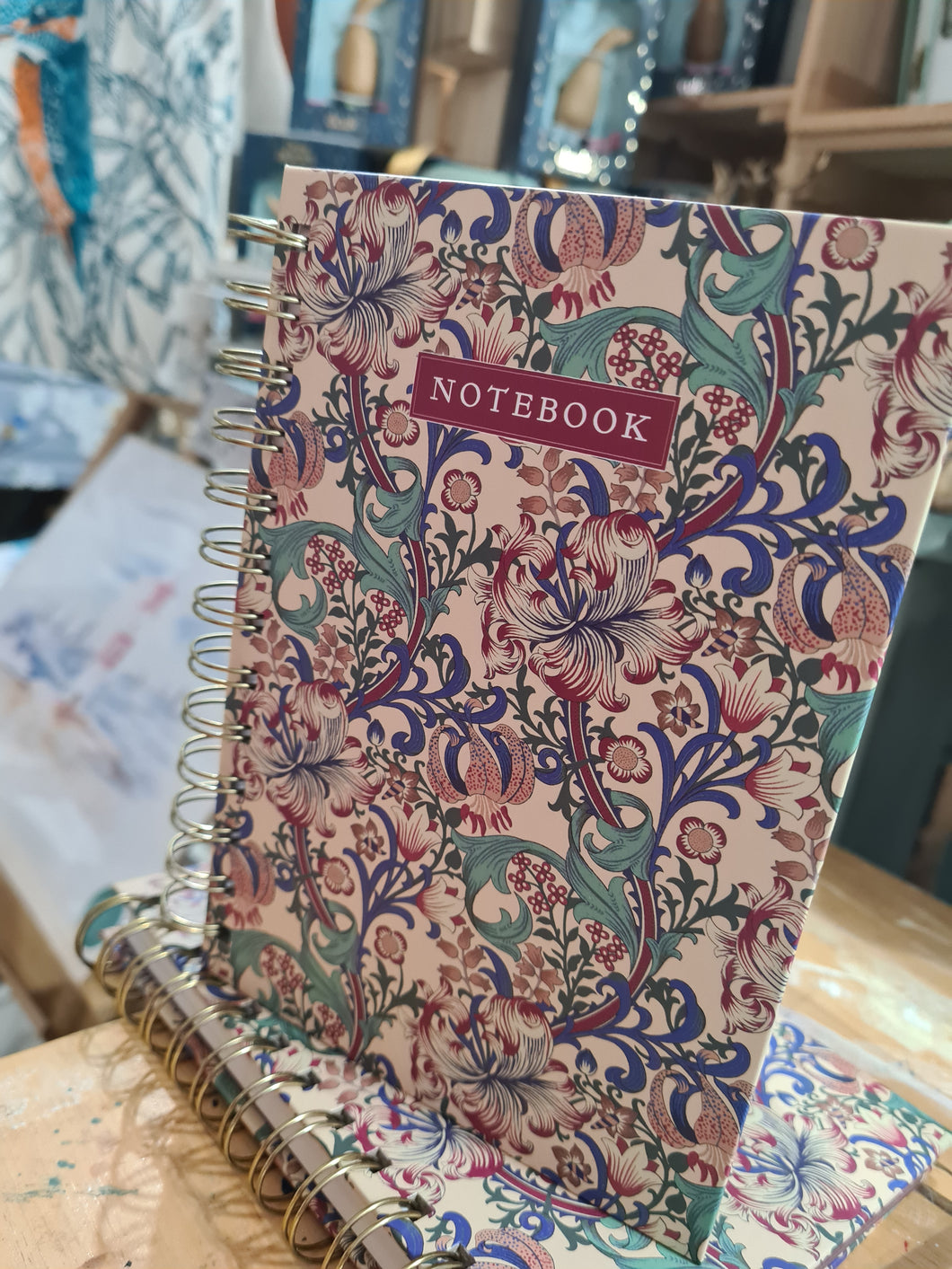 Golden Lily William Morris Notebook