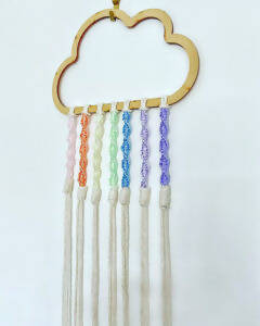Pastel Rainbow Cloud Wall Hanging