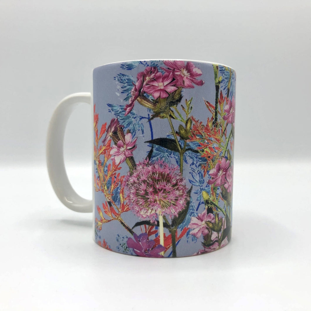 Floral mug, floral kitchenware, flowery mug for sale