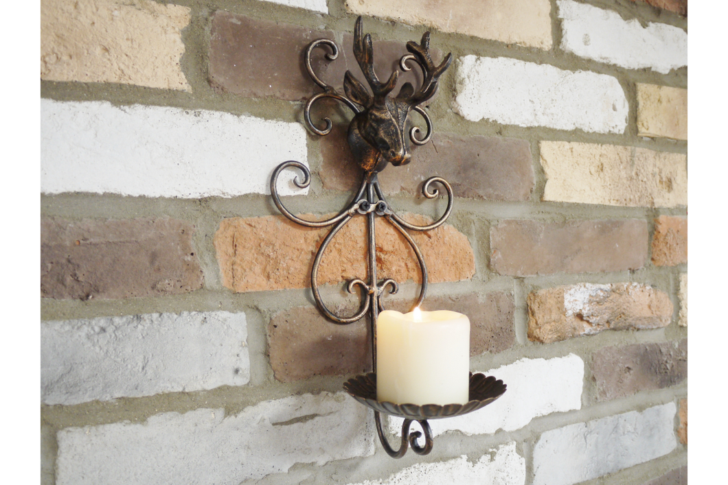 Stag Wall Candle Holder