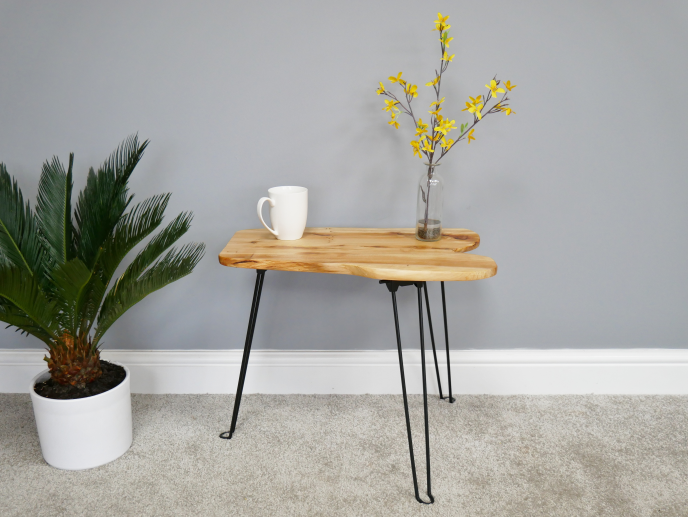 Foldable Hand-Crafted Side Table