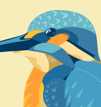 Load image into Gallery viewer, A4 Kingfisher Bird Print