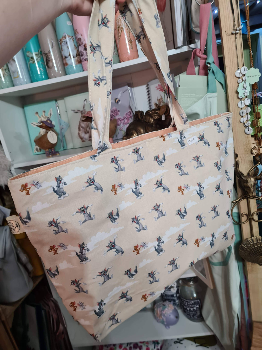 Large Tote bag-Shopping Bag with Zip closure - various designs