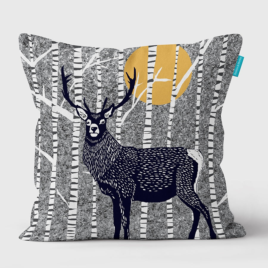 Stag Wilder Vegan Suede Cushion (made to order)