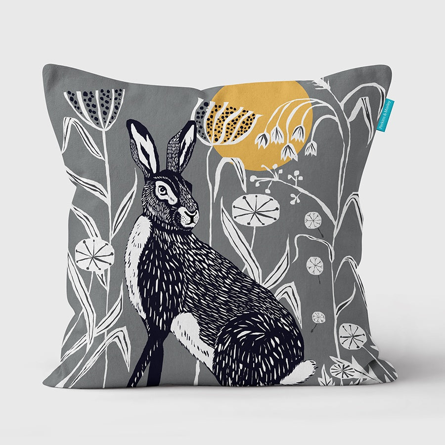 Hare Wilder Vegan Suede Cushion (made to order)