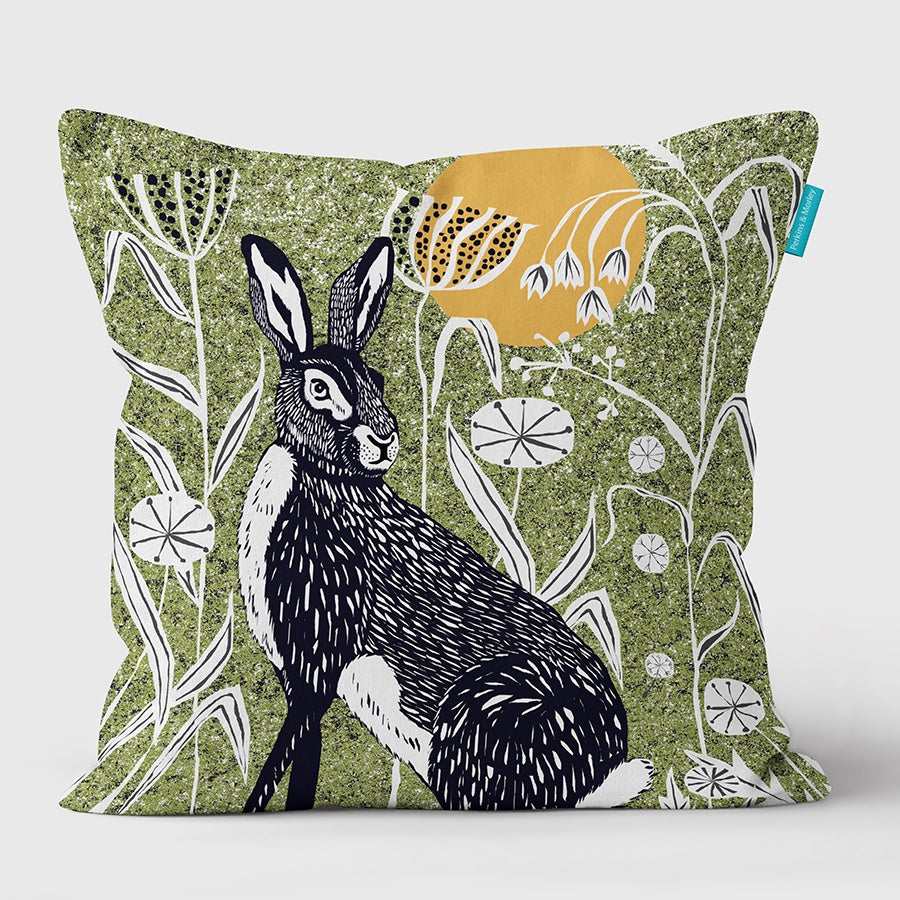 (Green) Hare Wilder Vegan Suede Cushion (made to order)