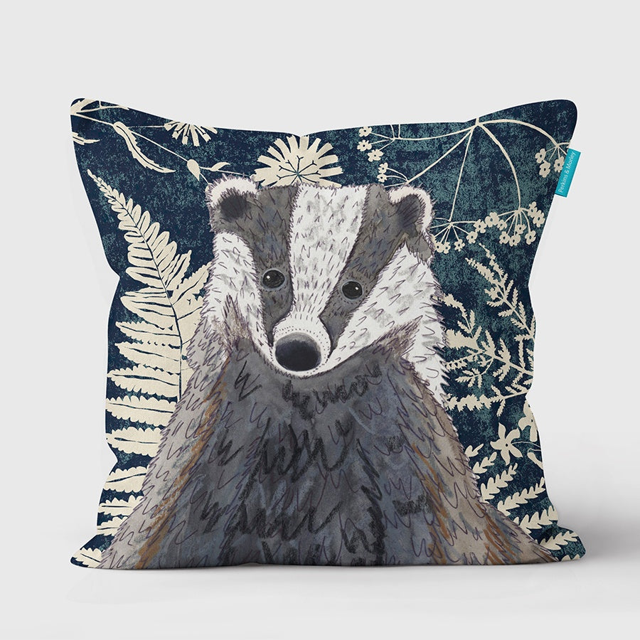 Badger Wild Wood Vegan Suede Cushion (made to order)