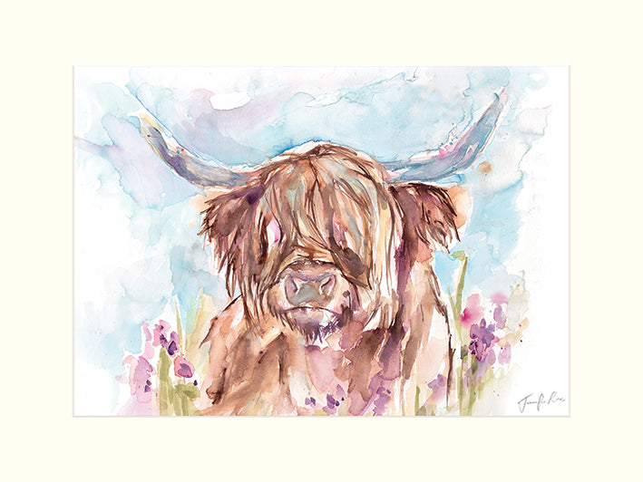 JENNIFER ROSE (HIGHLAND COW) 40X50 CANVAS