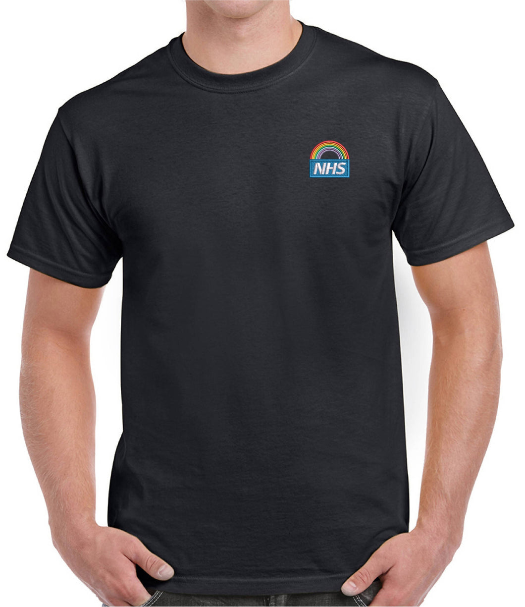 Mens Basic Short Sleeve Rainbow T-shirt