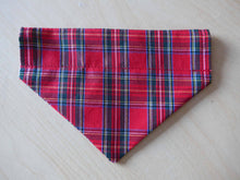 Load image into Gallery viewer, Tartan Print Dog Bandana