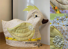 Load image into Gallery viewer, Duck table setting, Sewing Pattern, Placemat, Napkin holder & Ring, Egg & Tea c