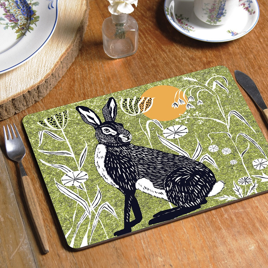 Wilder Hare Tablemat (made to order)