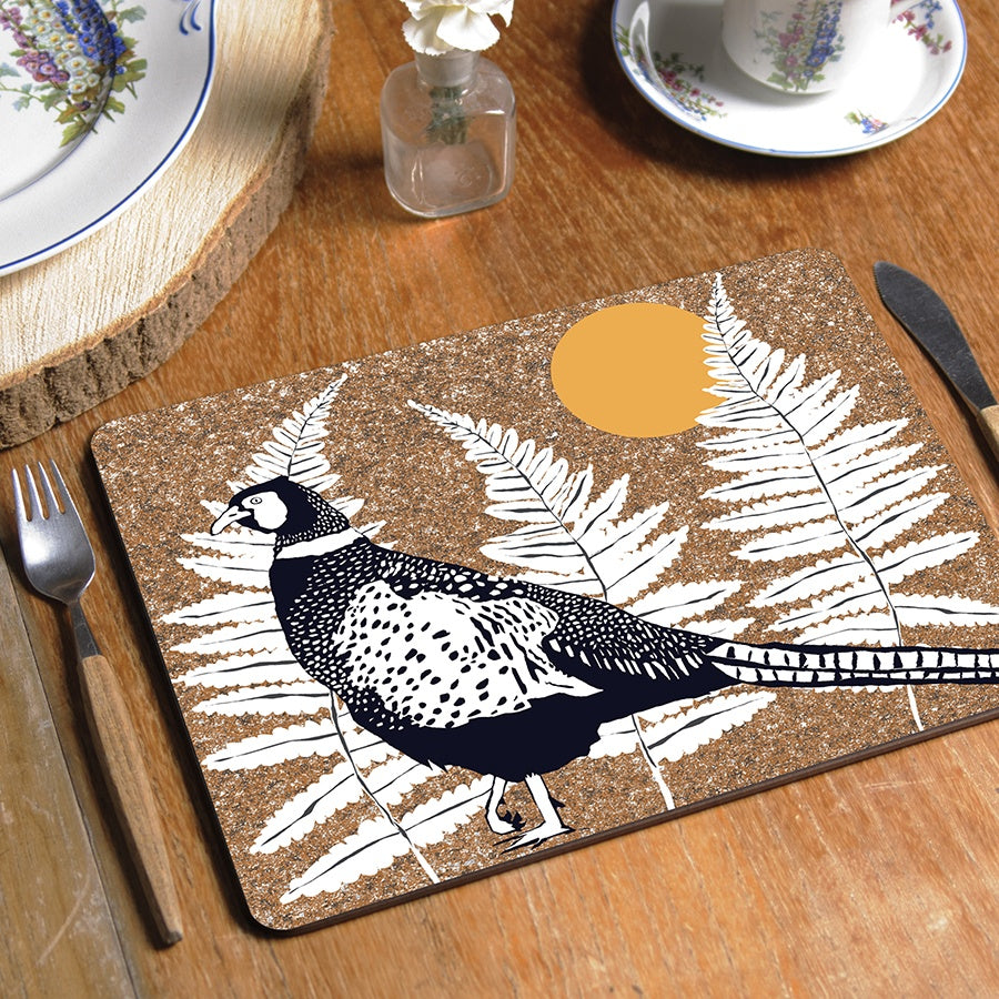 Wilder Pheasant Tablemat (made to order)
