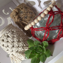 Load image into Gallery viewer, Macrame Candle Holder Pattern, Macrame Pattern, Glass Covers, Home Decor, Boho
