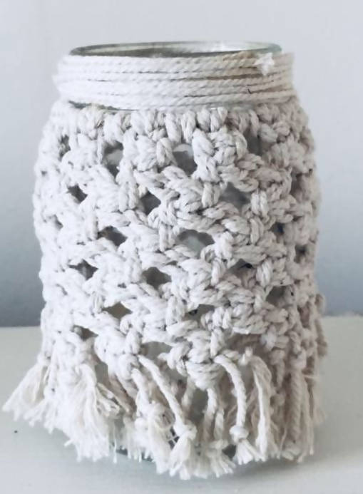 Macrame Candle Holder Pattern, Macrame Pattern, Glass Covers, Home Decor, Boho