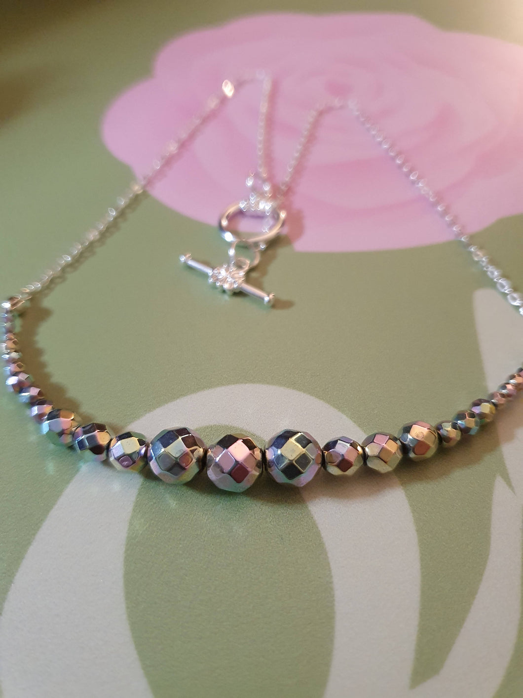 Iridescent Haematite Necklace
