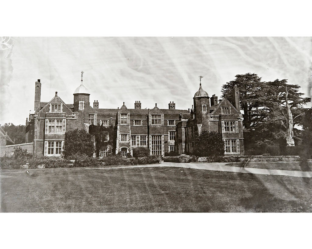 A Wet Collodion Ambrotype print of Kentwall Hall, Long Melford.