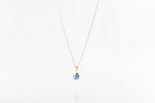 Load image into Gallery viewer, Real forget me not sterling silver 18 inch necklace