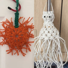 Load image into Gallery viewer, Halloween Macrame Patterns, Ghost,Skull,Pumpkin, Hanging ornaments, Bunting