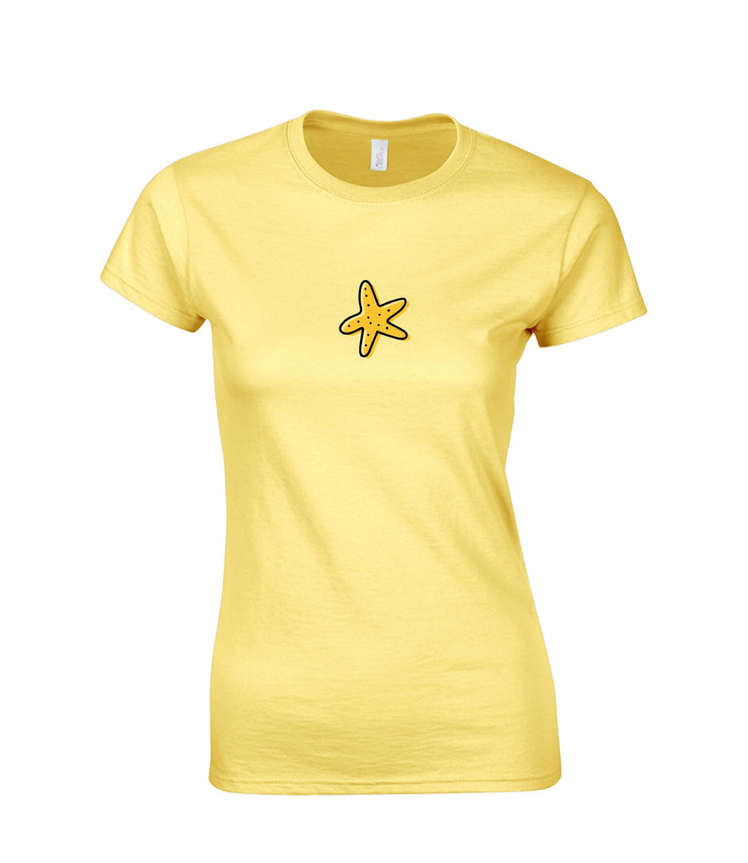 Ladies Short Sleeve T-shirt Starfish