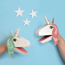 Load image into Gallery viewer, Create your own Unicorn Puppets