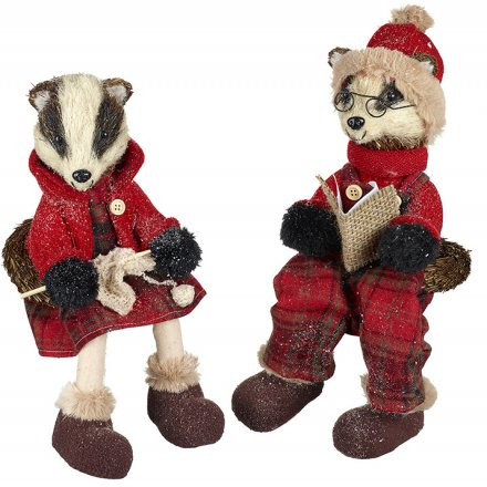 Winter Badgers - Shelf Sitters