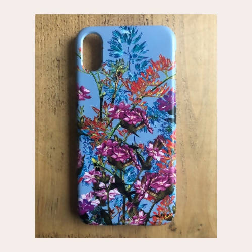 Flowery phone case, floral mobile accessories