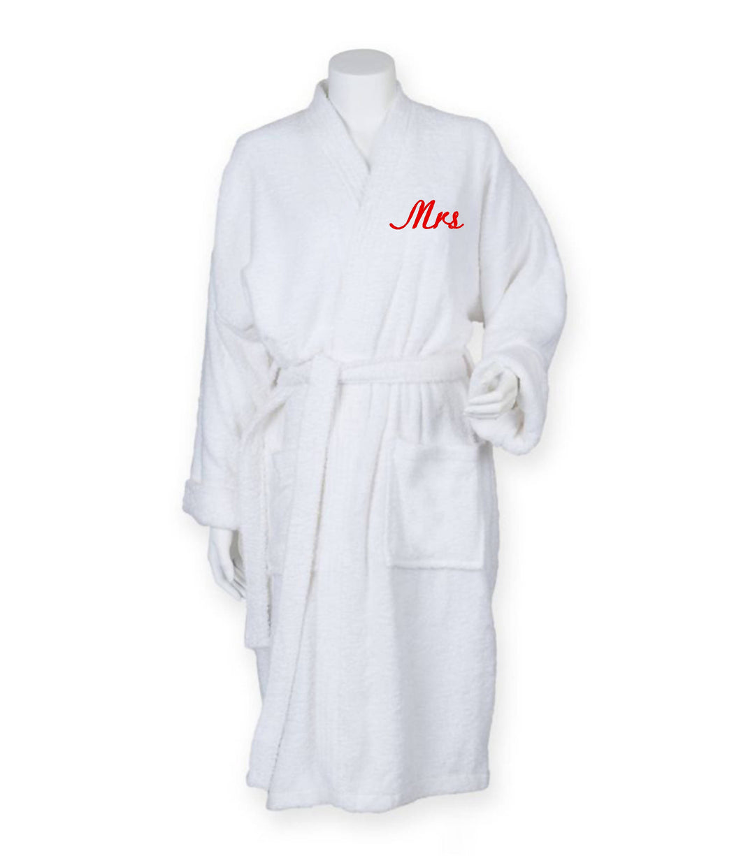 Towelling Robe Mrs