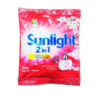 Sunlight Detergent Powder 200g,Clean & Sakura (Maroon)