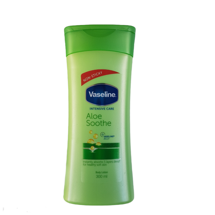 Vaseline non sticky aloe soothe body lotion 300ml