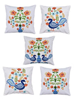 Load image into Gallery viewer, Peacock Print Set of 5 Cushion Cover