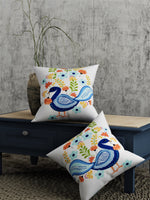 Load image into Gallery viewer, Peacock Print Set of 2 Cushion Cover