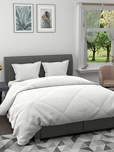 EverHome Pure White Microfiber Double comforter for Mild Winter -  200 GSM (90X100 inches)