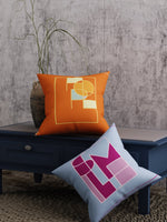 Load image into Gallery viewer, Geometric Print Set of 2 Cushion Cover