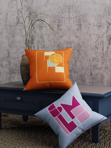 Geometric Print Set of 2 Cushion Cover