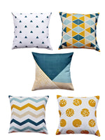 Load image into Gallery viewer, Geometric Print Set of 5 Cushion Cover