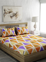 Load image into Gallery viewer, Geometric Print 100% Cotton Bedsheet