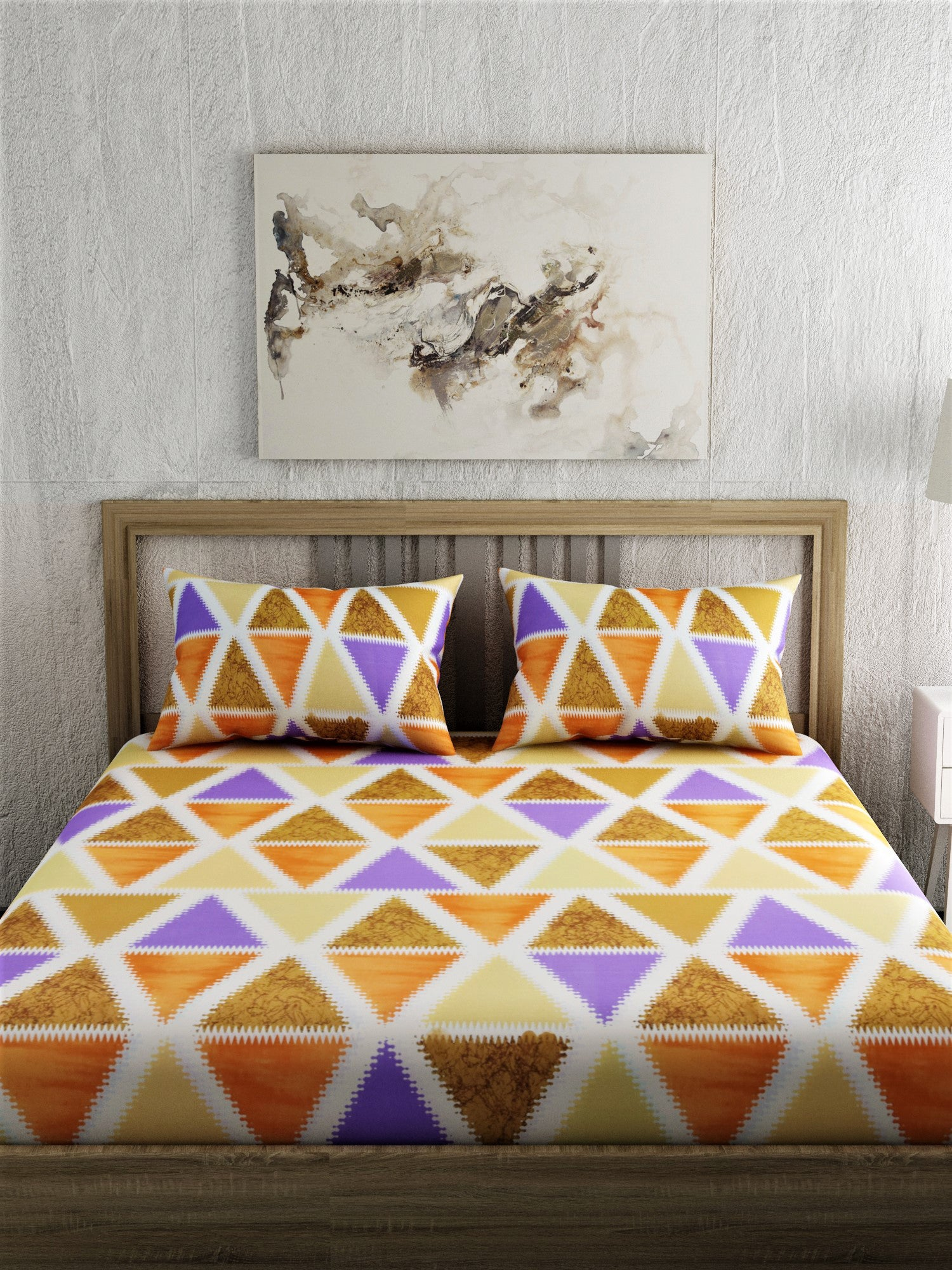 Geometric Print 100% Cotton Bedsheet