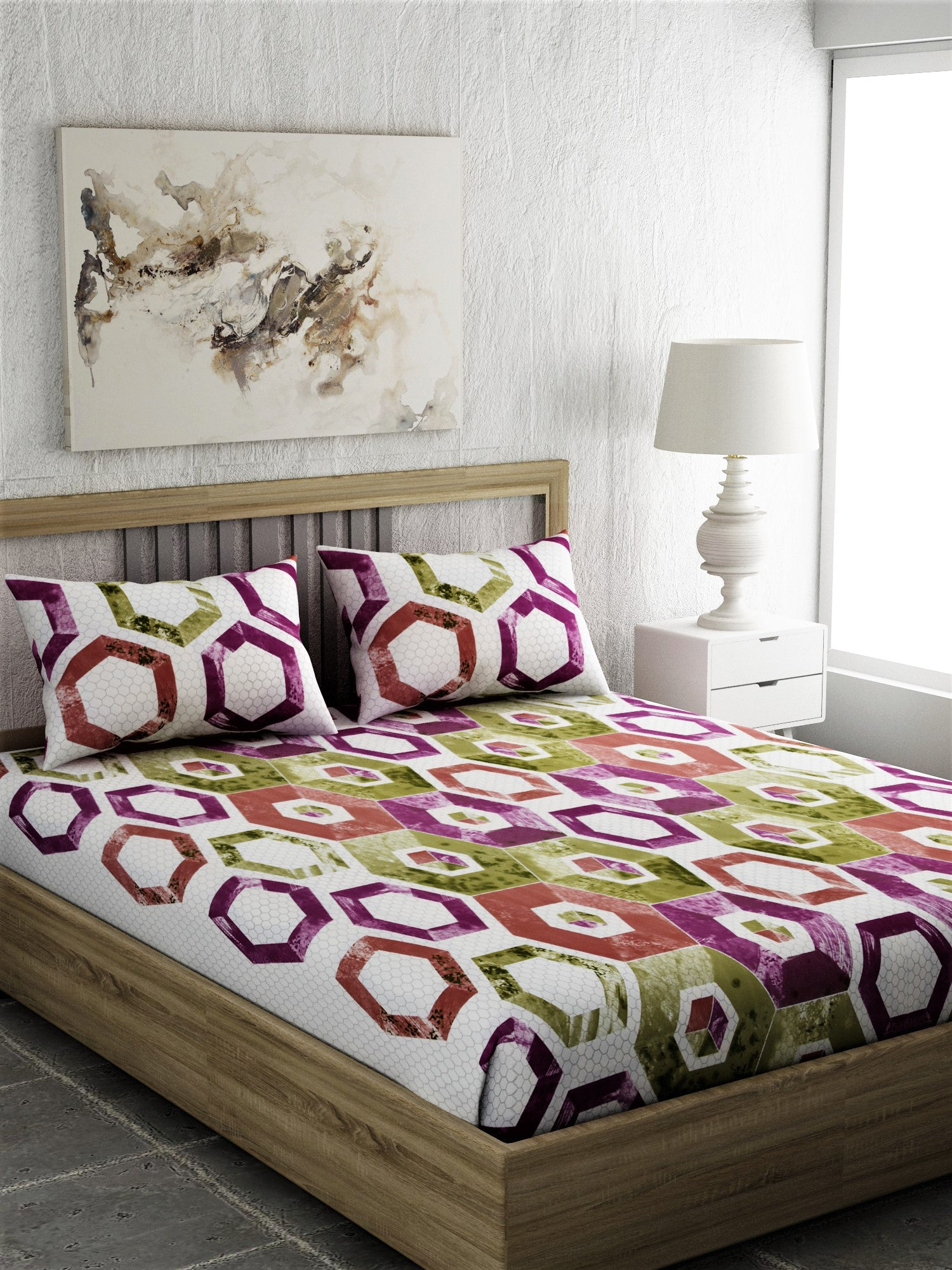 Super King 100% Cotton Bedsheet Set