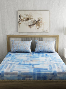 Abstract Print 100% Cotton Bedsheet