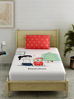 Load image into Gallery viewer, IFAH Doodle Print 100% Cotton Bedsheet Set