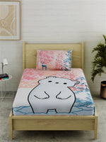Load image into Gallery viewer, Polar Bear Print 100% Cotton Bedsheet Set