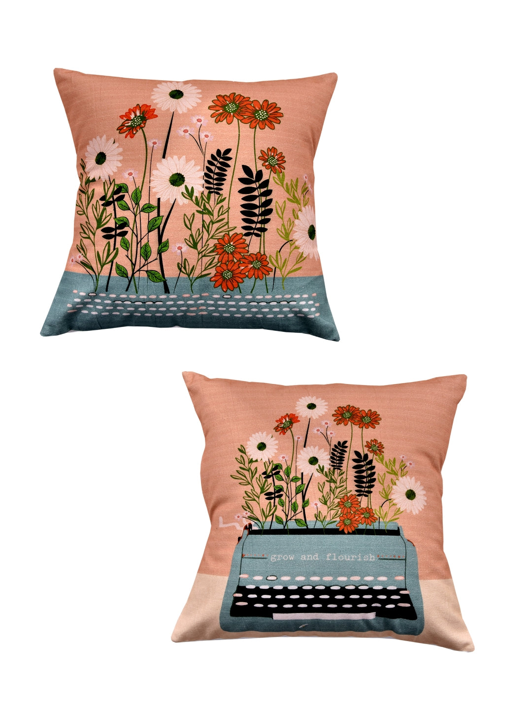 Type Writer Print Set of 2 Cushion Cover